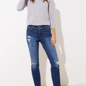 Loft destructed slim pocket skinny jeans